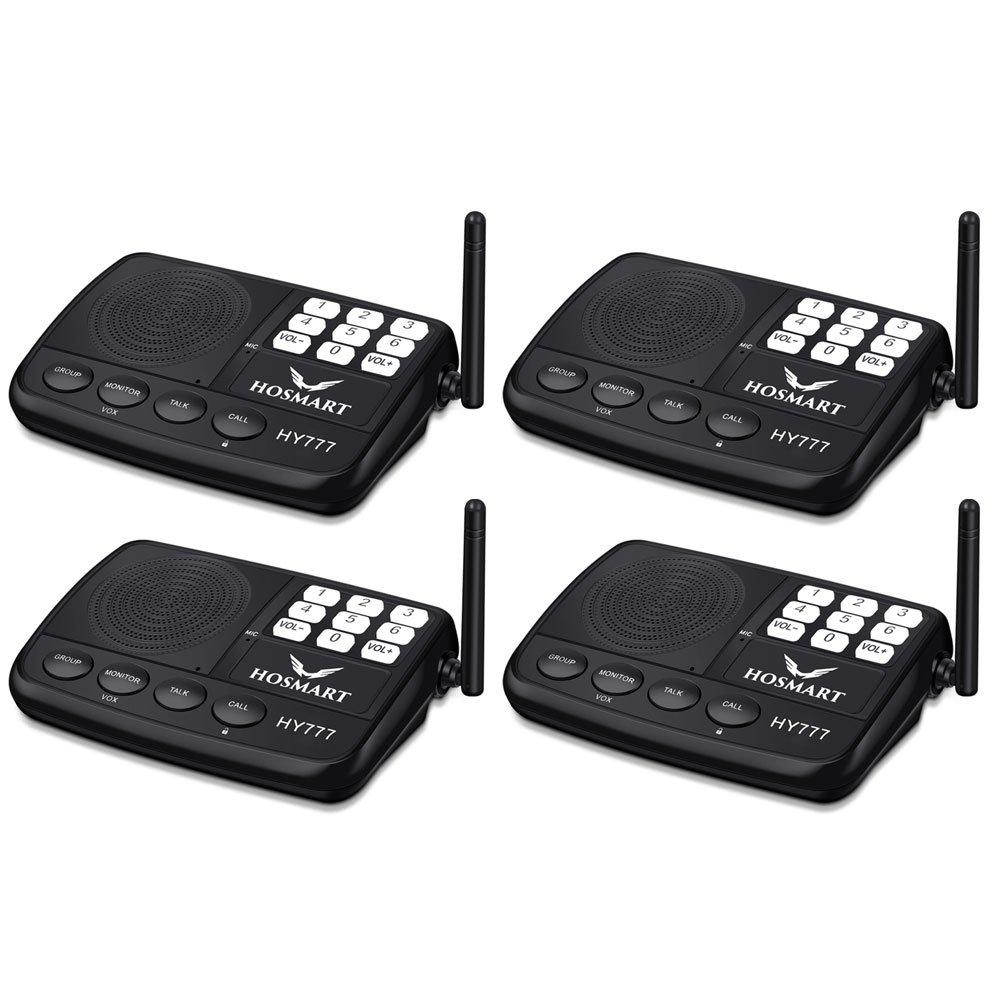 Système d'interphone sans fil Hosmart 500 mètres pour la maison et le bureau (4 stations) product image