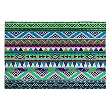 DENY Designs Bianca Green Esodrevo Woven Rug, 2 by 3-Feet