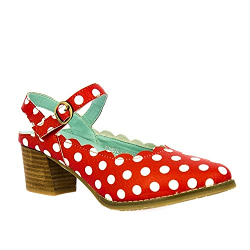 02b75a873fc Laura Vita Dimension 02 Rouge Polka Dot Heels  Amazon.co.uk  Shoes ...