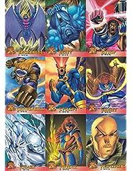 X-MEN INTERNATIONAL WAL-MART 1996 FLEER COMPLETE BASE CARD SET OF 100 MARVEL