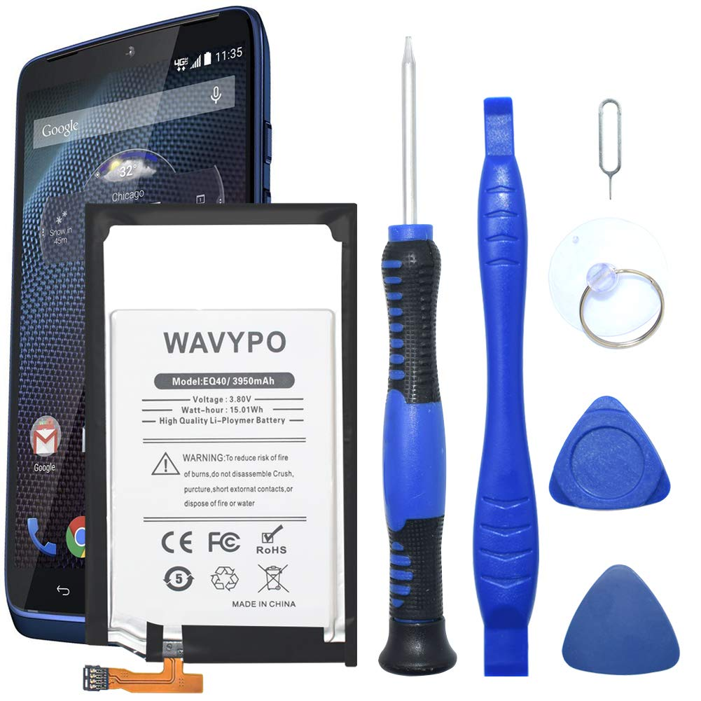 online store dbb00 24235 Motorola Droid Turbo Battery, Wavypo 3950mAh (Upgraded) EQ40 Replacement  Battery Li-Polymer Built-in SNN5949A for Motorola Droid Turbo XT1254 XT1225  ...