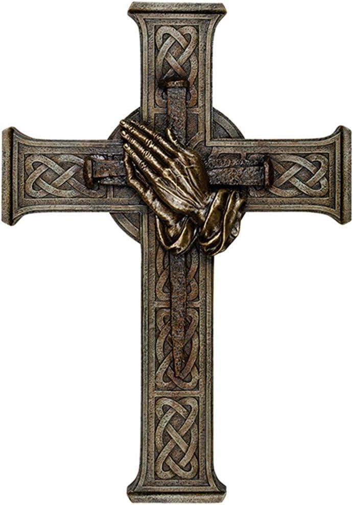 Betende H/ände Carson 14183 Wandkreuz Mehrfarbig 30,5 cm