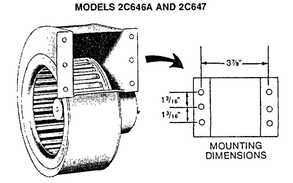 Dayton 2C647 Rectangular Permanent Split Capacitor OEM Specialty Blower