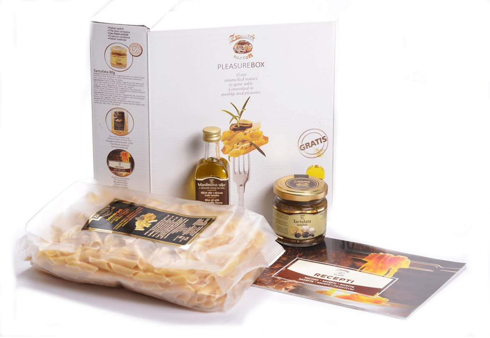 Truffle Mushroom Gift Box, Truffle Pasta Meal for 4! Croatian Luxury Gourmet Foods