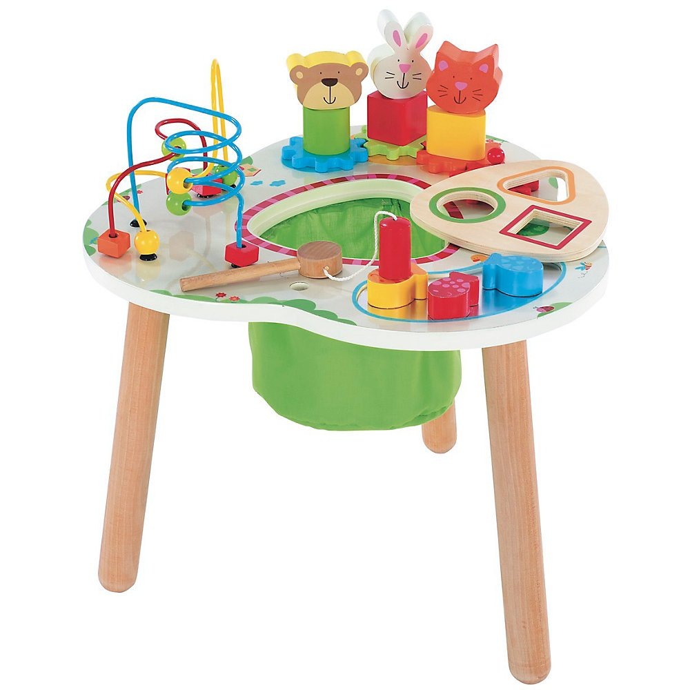 Captivating Baby Activity Table Wooden Designs