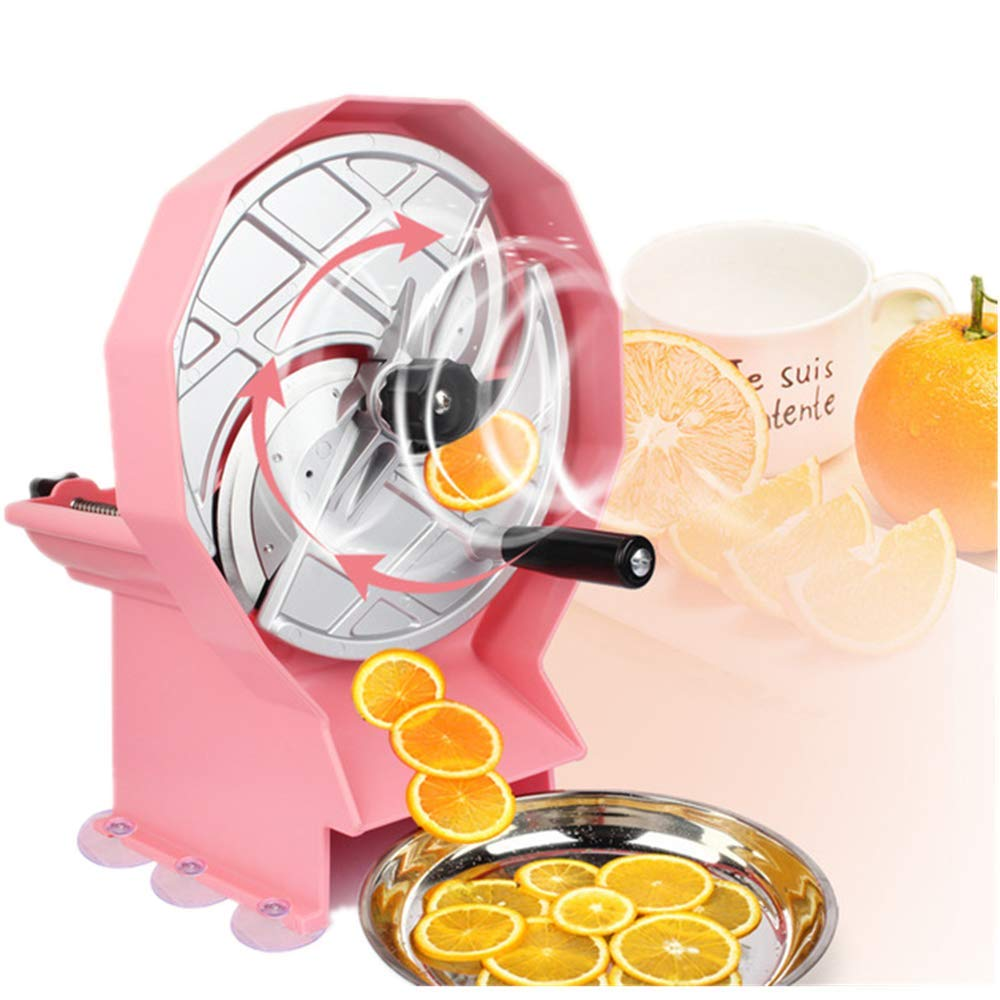 Angel Multifunction Hand Shake Fruit Slicer, User-Friendly Handles, Blade Sharp, with Suction Cup Fixing Base, Easy to Use, for Home, Commercial Shop by Angel