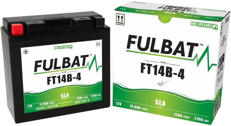 A ABS YT14B-4 wartungsfreie SLA-GEL Fulbat Batterie DIN51201 Yamaha FJR 1300 FT14B-4
