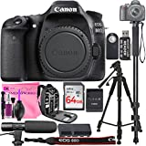 Canon EOS 80D Digital SLR Camera Body, 64GB Memory Card Camera Backpack, Camera Flash, Camera Microphone, Universal Remote, Professional Tripod and Camera Works Accessory Bundle