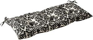 Pillow Perfect Indoor/Outdoor Essence Black Beige Swing/Bench Cushion