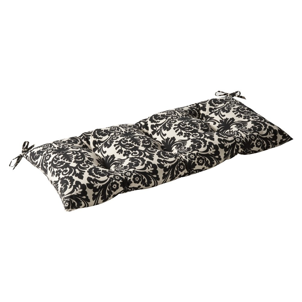 Pillow Perfect Indoor Outdoor Essence Black Beige Swing Bench Cushion