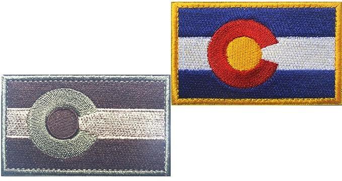 Amazon.de: shanshan Patch Militär Uniform Stickerei Colorado Flagge ...