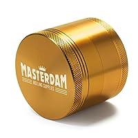Masterdam Grinders Premium 4-Part Herb Grinder with Pollen Catcher - Anodized Aluminium