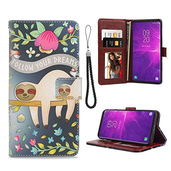 info for 74864 9706b Amazon.com: Samsung Galaxy Note 8 Phone Wallet Case Sloth Follow ...
