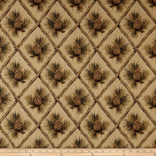 (Regal Fabrics Lattice Pine Cone Jacquard Beige,)