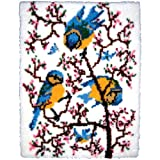 M C G Textiles Latch Hook Kit, 27-Inch by 33-Inch, Springtime Bluebirds