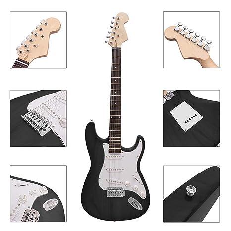 NUYI-4 Guitarra eléctrica Genuina ST Serie Guitarra eléctrica Principiante práctica Profesional Tocando Guitarra eléctrica