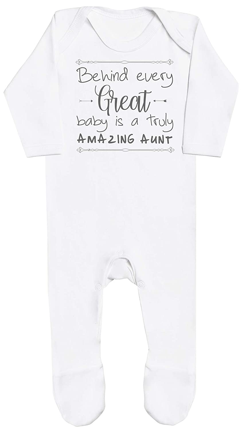 Behind Every Great Baby is A Truly Amazing Aunt Baby Boy Romper Baby Romper Baby Girl Romper