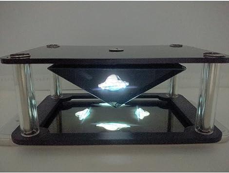Gazechimp Holográfica 3D Magic Box Fàcil de Usar Accesorios de Buena Calidad Girar 360 Grados Desmontable: Amazon.es: Electrónica