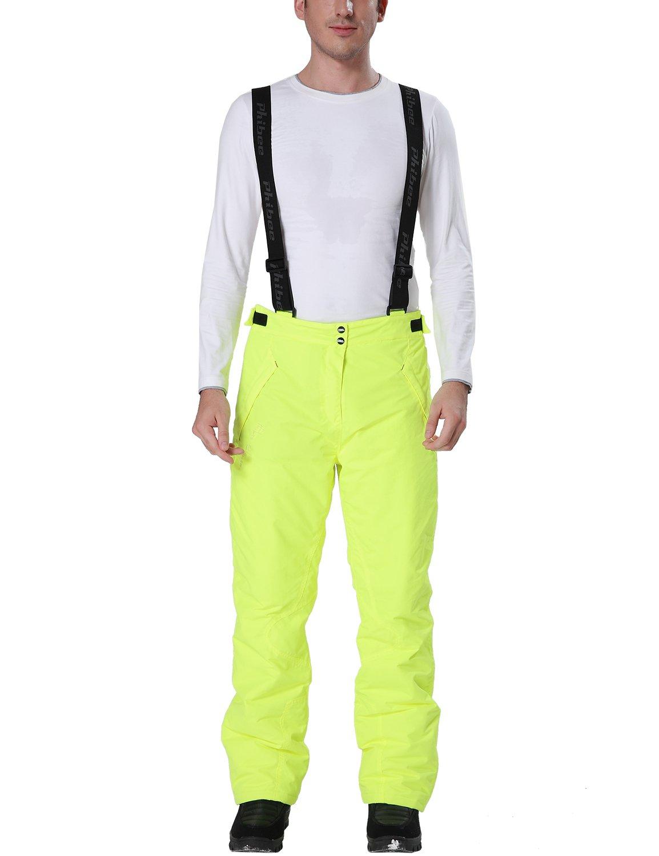 Phibee Hombres Pantalones Polié ster Impermeable y Transpirable al Aire Libre de Snowboard Kangya