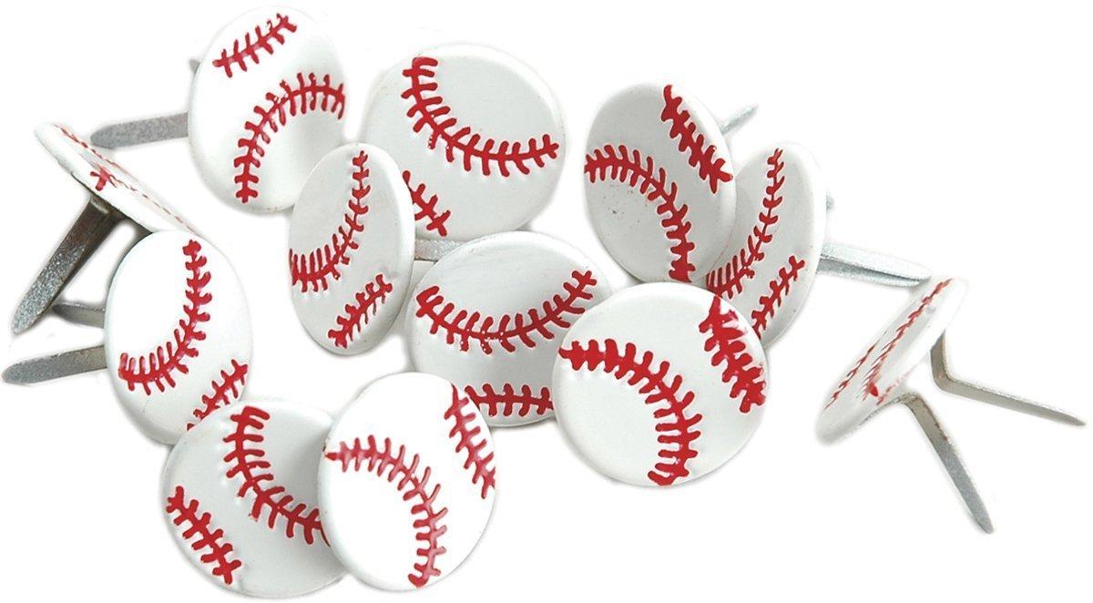 Occhiello uscita Baseballs Brad forma, confezione da 12 Eyelet Outlet 356413