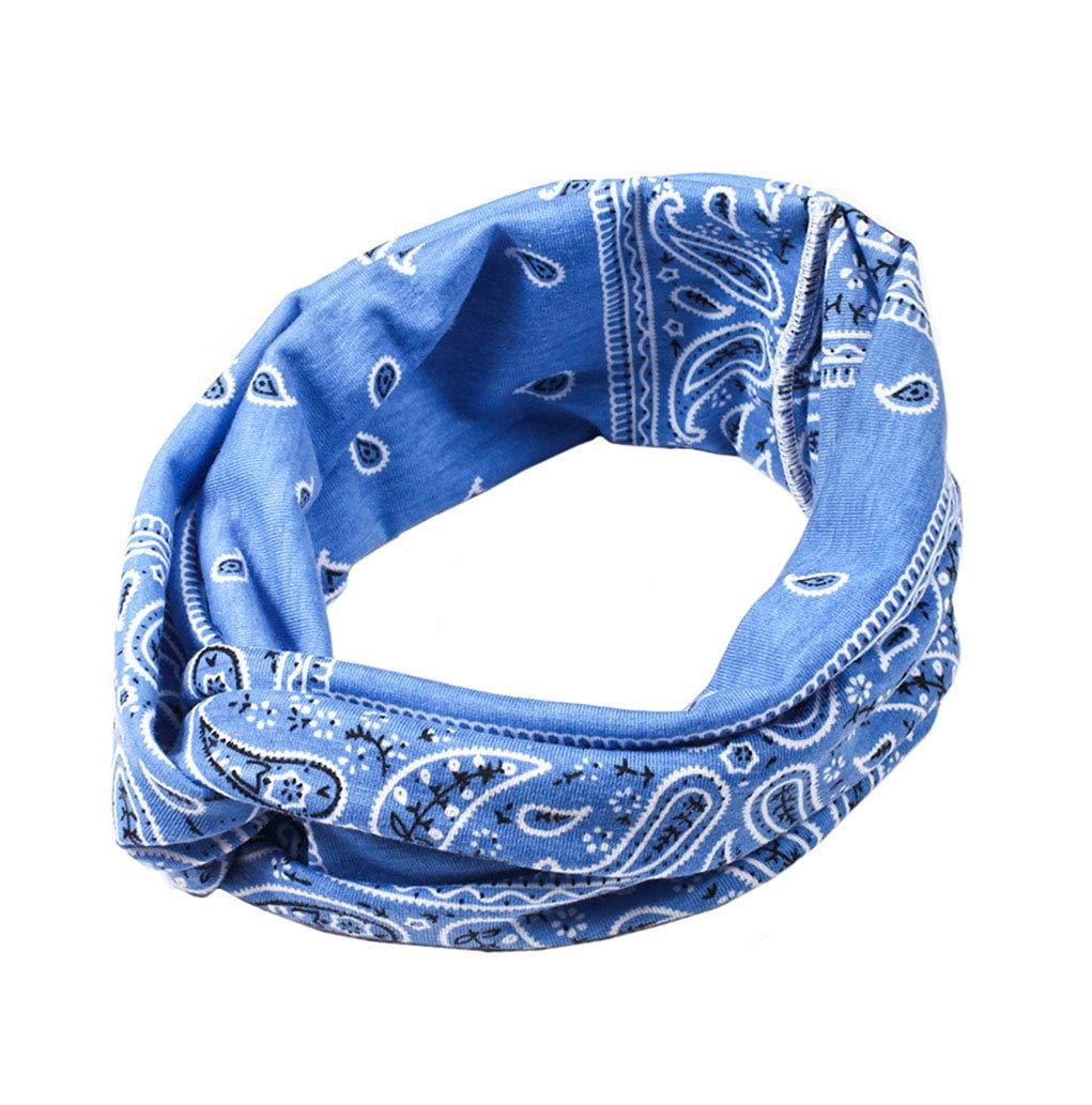 Boomly Femmes Bandeaux Bohême Impression Hairband Élastique Doux Turban Headwrap Accessoires pour Cheveux pour Maquillage Loisir Yoga Sport 24 * 8CM)