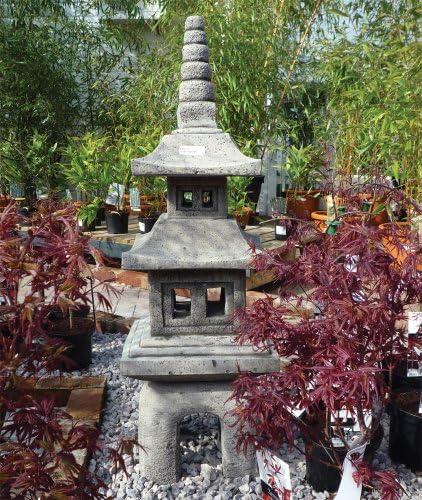 Adornos de jardín chino tamaño grande - cuatro piezas Pagoda farol japonés: Amazon.es: Jardín
