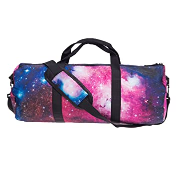 Beauty Smooth Design Lightweight Water Resistant Folding Nylon Shoulder Bags Or Holdall Pink Gym Sports