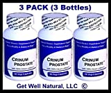 Crinum Prostate 3-Pack (60 Vegi Caps per Bottle) 100% Concentrated Vietnamese Crinum Latifolium, CONTAINS NO Synthetic fillers such as Silicon Dioxide, Talc, Magnesium Sterate, etc.