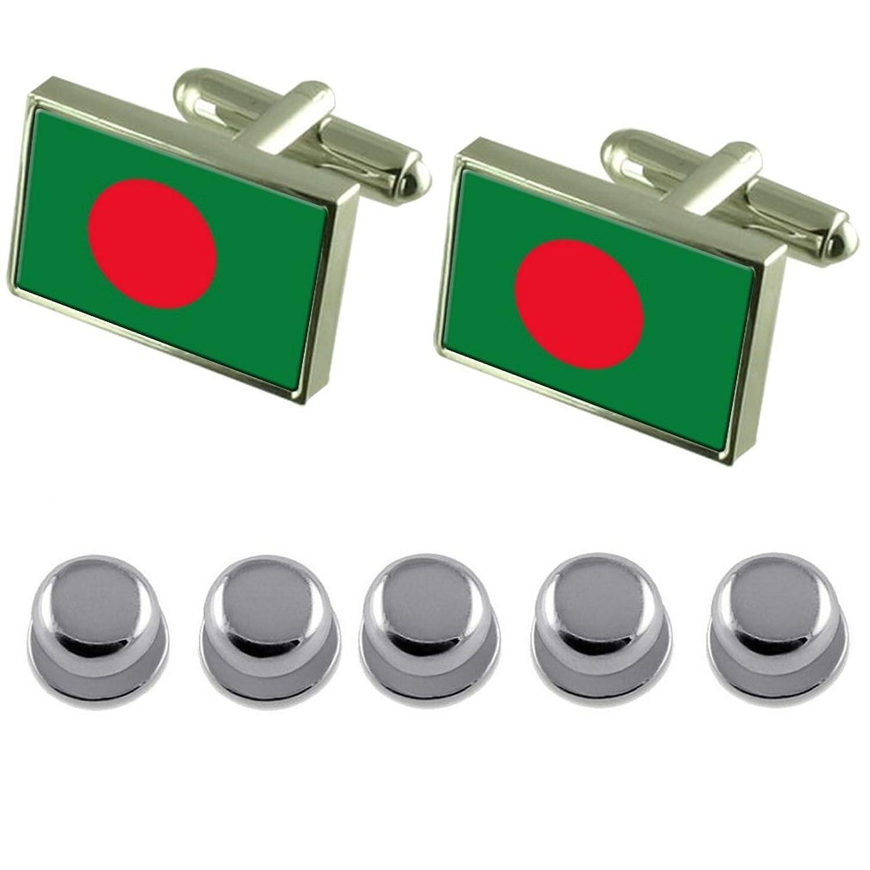 Shirt Dress Studs Bangladesh Flag Cufflinks