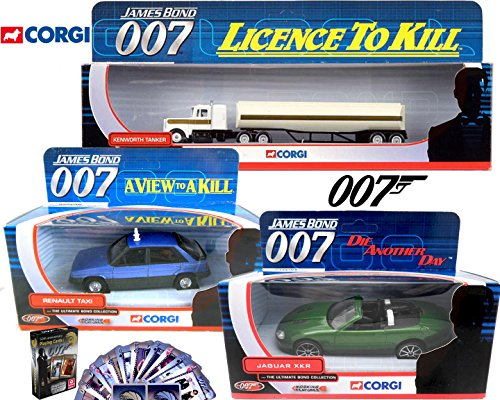 James Bond Set Kenworth Tanker Truck Licence to kill Jaguar