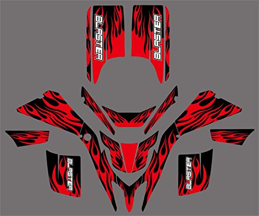 RED//BLACK RIBS Enjoy MFG Ribbed Seat Cover Compatible Fit for YAMAHA BLASTER 200 YSF 200 1988-2006