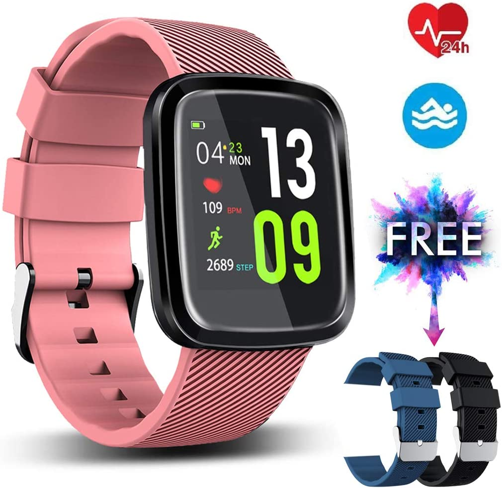 EUMI Smartwatch, Reloj Inteligente con IP67, Pulsera Actividad Inteligente Batería 10-15 días 1.3 a Color 8 modalidades de Deporte Cronómetro ...