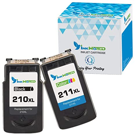 InkWorld Remanufactured Ink Cartridge Replacement PG 210XL CL 211XL 1 Black