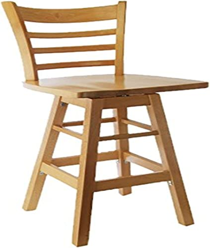 Beechwood Mountain BSD-5BSW-N Solid Beech Wood Swivel Bar Stool in Natural with wood seat for Kitchen and dining