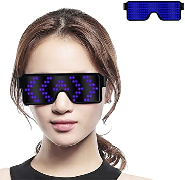 Glasses USB Rechargeable LED Light Up