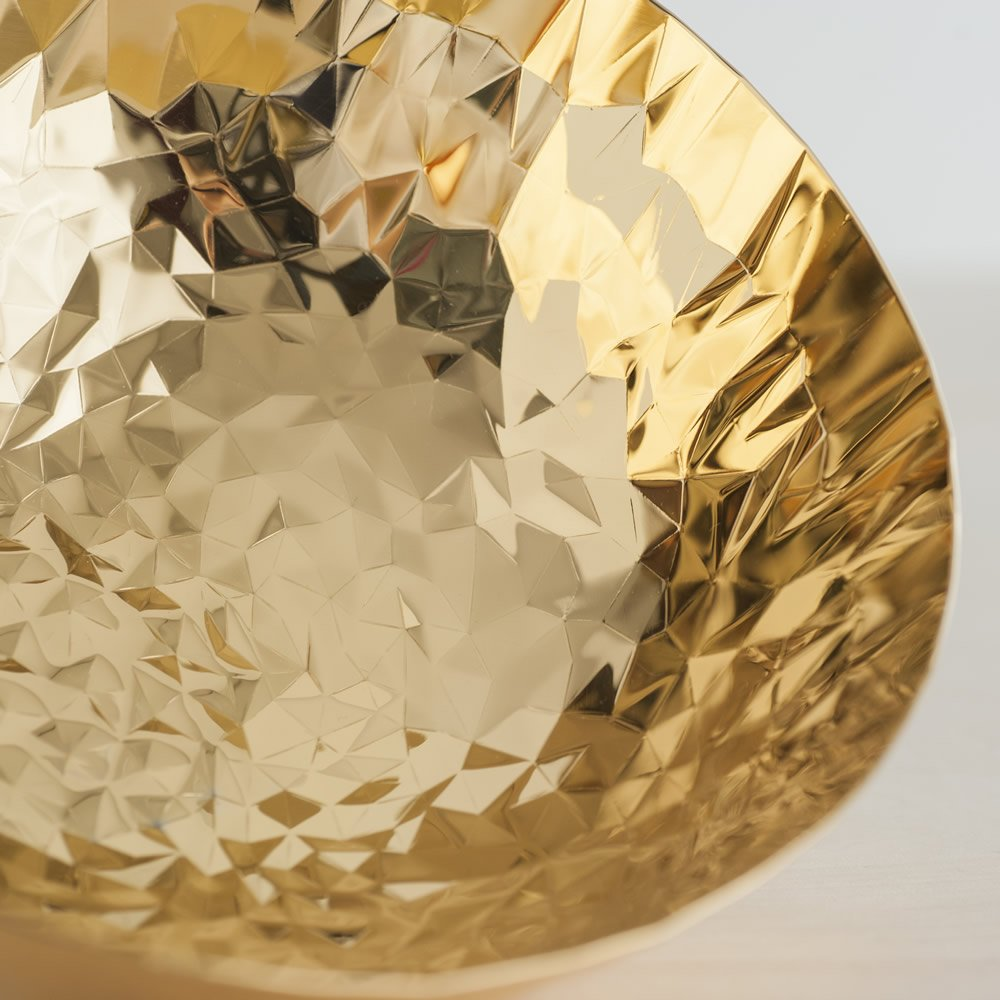 Gold CR02//21GGD AlessiJoy n11 Round Basket in 18//10 Stainless Steel And Hand Gold Plating in 24 Carat Gold