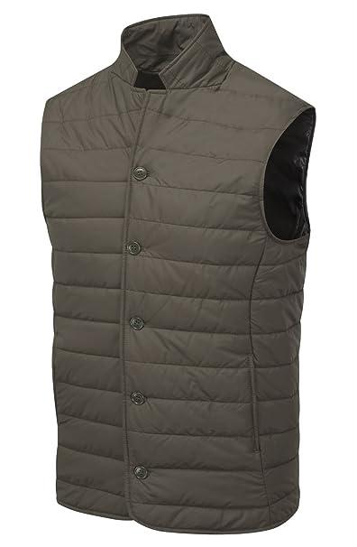 VEDONEIRE Chaleco para hombre (3058 BROWN) marrón chaqueta ...