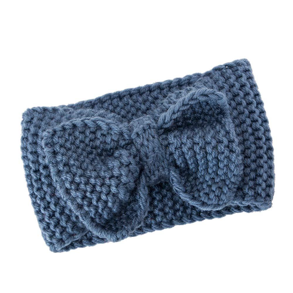 conqueror⭐⭐⭐⭐⭐ Femmes cheveux balle tricot bandeau élastique à la main conception arc bande de cheveux Bandeau pour Hiver Tricot Turban Bandeau Cheveux De Crochet D'oreille Warmer Headwraps