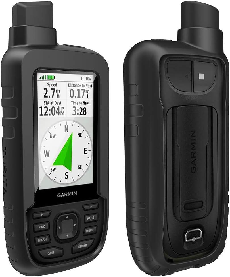 TUSITA Funda para Garmin GPSMAP 66s 66st - Case Protectora de Silicona Skin - Accesorios de Mano GPS Navigator (Negro)