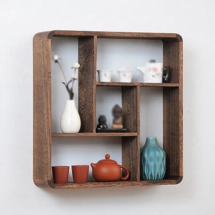 Amazon.com: Chinese Wall Racks/Wood Ornaments/Wall Tea Shelf ...