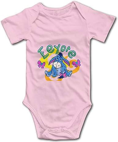 WlQshop Bodysuit Infant Donkey Piglet Winnie Pooh Eeyore Short Sleeve Onesie Jumpsuit Romper for Baby Boys Girls