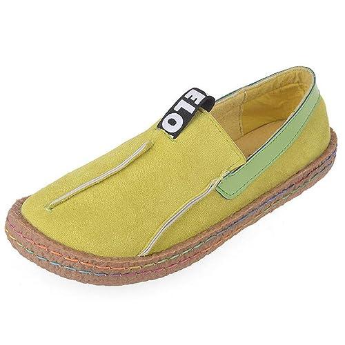Mocasines De Mujer Zapatos De Punta Redonda PatróN De Calados Pisos Anchos De poca Profundidad Slip-On Ladies Oxford Calzado Informal: Amazon.es: Zapatos y ...