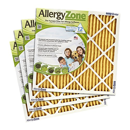 25 Inch Air Conditioning - AllergyZone Allergen-Trapping Central Heating and Airconditioning Filters 4-pack (twelve-month supply)