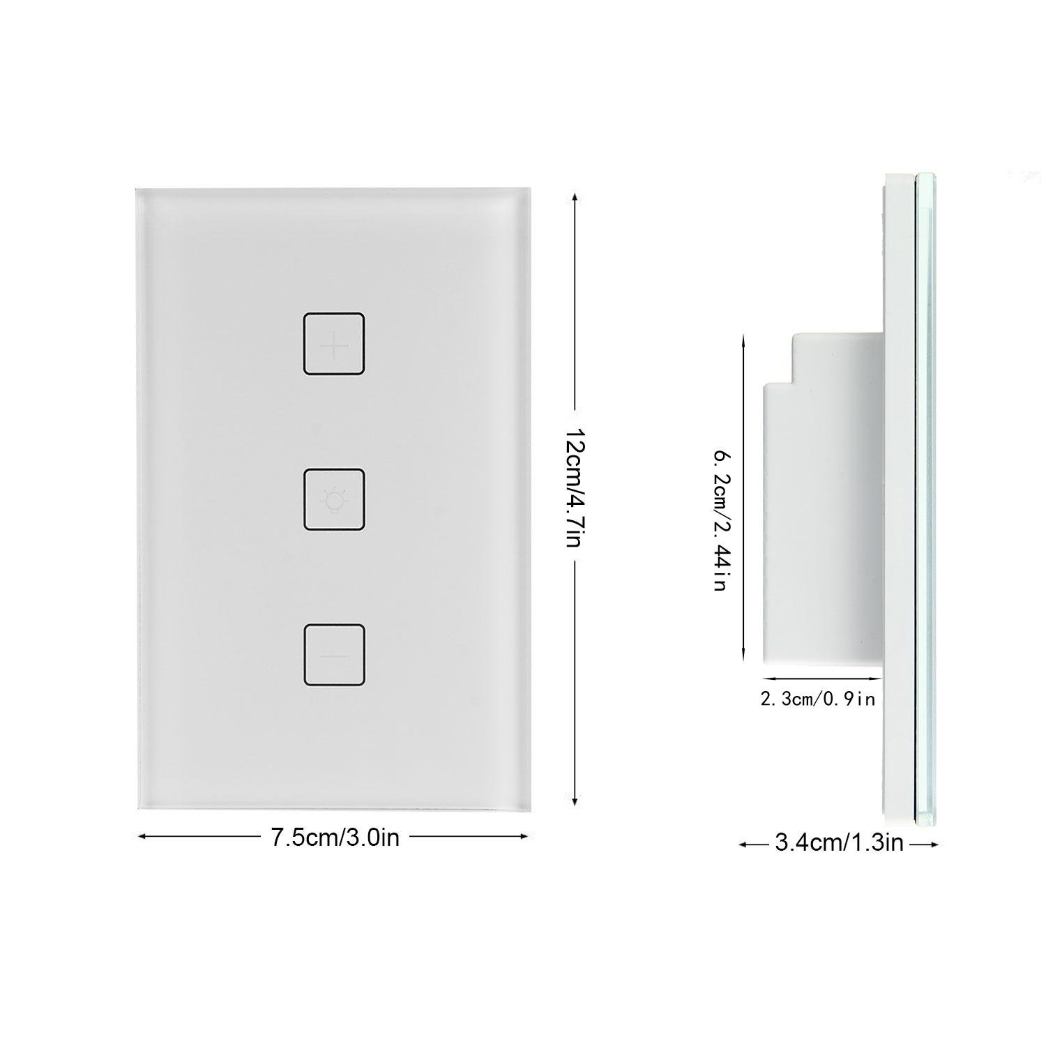 FOONEE Wifi Dimmer Switch, Home Decoration Smart Dimmer Switch with Alexa, Google Home Touch Switch Outlet Wifi Smart Lighting Control for Bedroom, Kitchen, Living Room(Neutral Wiring Required) by FOONEE (Image #2)