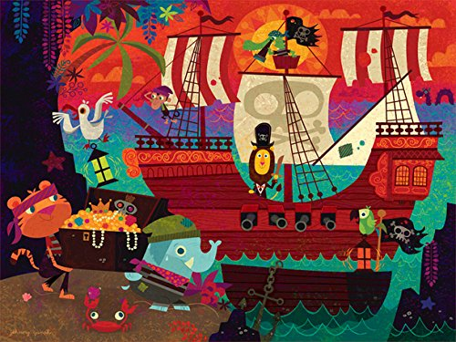 Oopsy Daisy Fine Art for Kids Pirate's Cove Canvas Wall Art by Johnny Yanok, 24 x 18