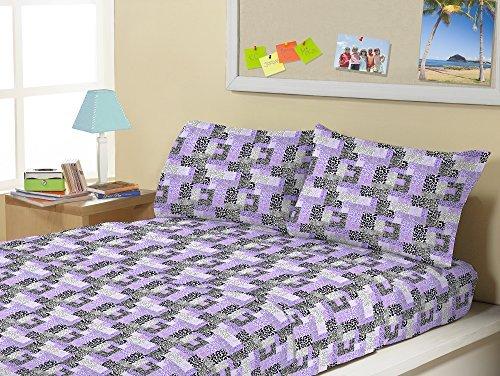 Kute Kids Super Soft Sheet Set - Animal Print Purple - Brushed Microfiber for extra comfort