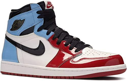Amazon Com Nike Mens Aj1 Retro High Og Fearless White Black Blue