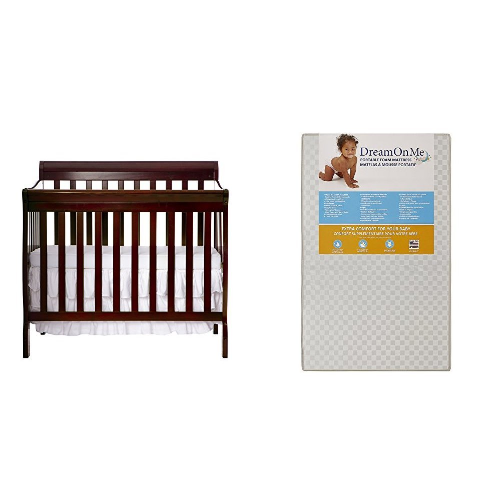 Dream On Me 4 in 1 Aden Convertible Mini Crib, Black 628-K