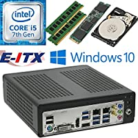 E-ITX ITX350 Asrock H270M-ITX-AC Intel Core i5-7400 (Kaby Lake) Mini-ITX System , 16GB Dual Channel DDR4, 120GB M.2 SSD, 2TB HDD, WiFi, Bluetooth, Window 10 Pro Installed & Configured by E-ITX