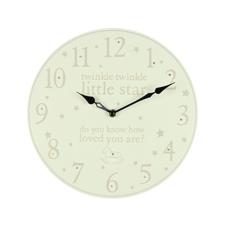 Bambino by Juliana Resin Wall Clock Twinkle Twinkle 25 cm Widdop Bingham
